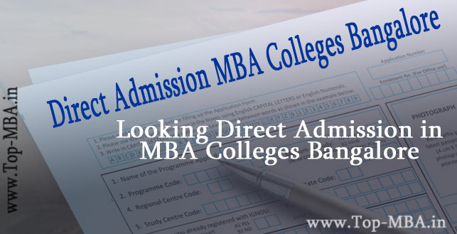 Direct Admission Bangalore MBA Colleges