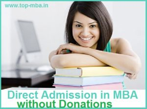 Direct Admission in MBA without donation
