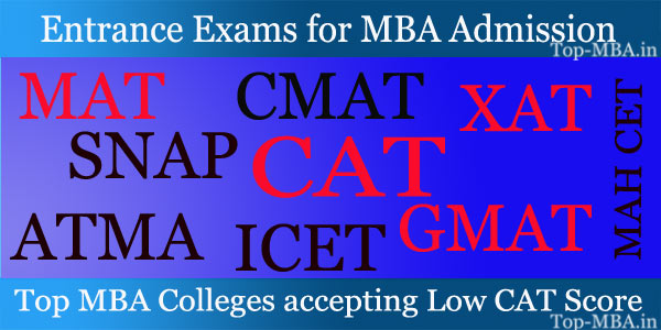 Top MBA Colleges accepting Low CAT Score